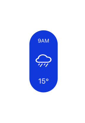 The hourly weather pill